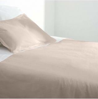 Bettwäsche Baumwolle 140 x 200 cm beige - Atmosphera