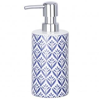 Badezimmer-Spender für Flüssigseife, Behälter mit Pumpe und dekorativem Muster - 360 ml, WENKO
