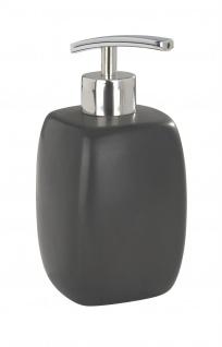 Keramikseifenspender FARO, Farbe schwarz, WENKO