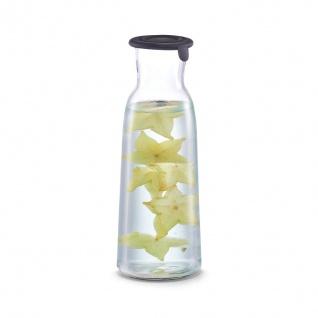 Glas Dekanter für kalte Getränke, Glas, Topf, 1000 ml, schwarz