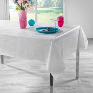 Tischdecke, rechteckig, PEVA ALESSA, 140 x 240 cm, grau
