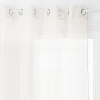 Fenstervorhang mit Metallringen, einfach zu installieren Vorhang mit einfachem Design