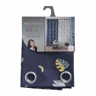 Ösenvorhang Marley, 140 x 260 cm, Polyester, Bedruckt, Blau - Douceur d'intérieur - Vorschau 3