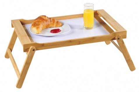 Tablett mit Klappfüßen, Klapptisch mit Bambus in , Frühstückstablett