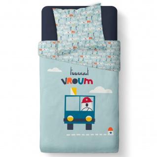 Bettwäsche-Set für Kinder, VROUM, 140x200 cm, TODAY - Today