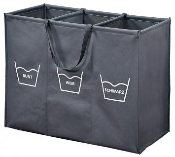 Wäschesortierer, Faltbarer Wäschekorb mit Fächern, Wäschekorb, Badezimmerkorb - Vorschau 4