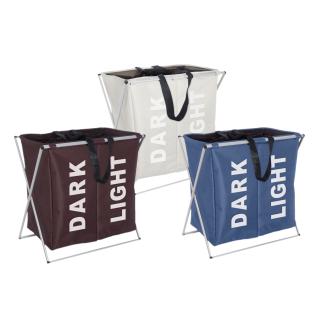 WENKO, Wäschesammler Duo - Wäschekorb, Fassungsvermögen, Kunststoff