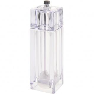 Transparente Pfeffermühle, Salz, - manuell 15x5x5 cm