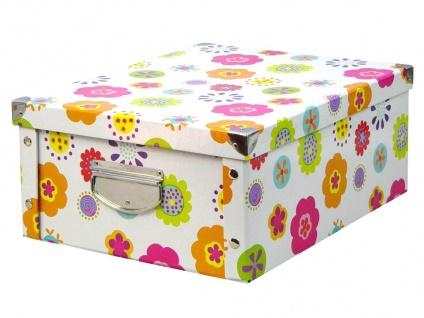 ZELLER Aufbewahrungsbox Punkte, Pappe, 17 cm hoch