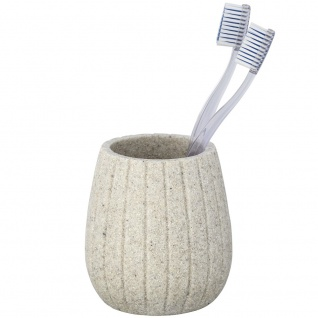 Becher für Zahnbürste und Zahnpasta, Behälter CANTALOUP für Badutensilien - WENKO