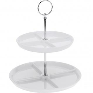 Porzellanteller mit 2 Ebenen, 26 cm, weiß - EH Excellent Houseware