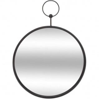Wandspiegel rund, Ø 30 cm, schwarz - Atmosphera