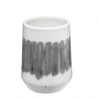 Zahnbürstenhalter, MATTE, Keramik, schwarz-weiß