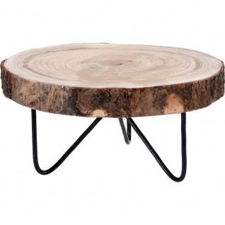 Holztablett auf Beinen, Holzscheibe, Ø 30 cm, Atmosphera - Home Styling Collection