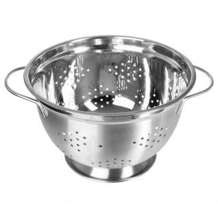 Edelstahlsieb Praktische Küchenhilfe 25 cm Durchmesser 2 bequeme Griffe