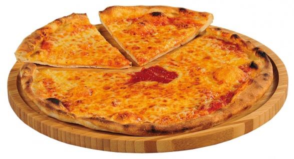 Pizza-Teller, Pizzabrett, Servierbrett, Pizzatablett, Bambus, Küchenaccessoires