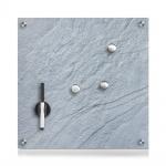 Glas MEMO Magnettafel, dunkel + 3 Magnete, 40x40 cm, ZELLER