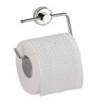 WENKO Toilettenpapierhalter Simple Power-Loc - Befestigen ohne Bohren, Chrom