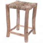 Home Styling Collection, Hocker mit einem Sitz aus Seegras - Hocker