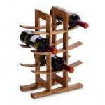 Weinregal, Weinständer, Flaschenständer, Flaschenregal aus Holz für 12 Flaschen