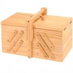 NEU NÄHBOX KLAPPBAR - 5 Fächer Nähkästchen Holz Nähkiste Nähkasten