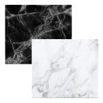 """ZELLER, Herdblende-/Abdeckplatte """" Marmor"""", Glas, weiß, 56 x 50 x 1 cm"""