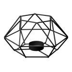 Windlicht aus Metall, Einzigartiger Metallkerzenhalter, 17 x 15 x 9 cm - Emako