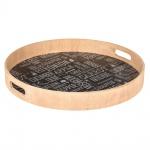 Holztablett zum Servieren von Mahlzeiten - Ø 40 cm