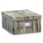 Zeller Aufbewahrungsbox Wood, 31 x 26 x 14 cm