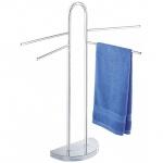 Verchromter Handtuchständer, Handtuchhalter - 4 bewegliche Arme, WENKO