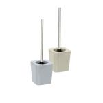 WENKO Offener Bürstenhalter CANDY GREY + Toilettenbürste, Polystyrol