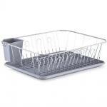 Zeller 27268 Geschirrabtropfständer, Kunststoff/Metall verchromt,