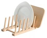 Tellerständer, Ständer für Buchenholzplatten, Holzständer, Buche, FSC