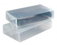 WENKO, 2er Set Aufbewahrungsbox Stiefelboxen Schuhbox Schuhe Organizer