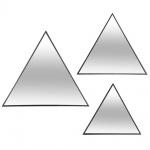 Dekorative dreieckige Spiegel - 3 Stück im Set