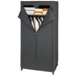 Textilkleiderschrank DEEP BLACK, Kleiderschrank, 160x75x50cm, WENKO - WENKO
