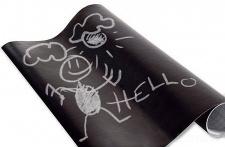 Selbstklebende Kreidetafel - Tafelfolie für kinder - 45 x 200 cm, 5 x Kreide im Set