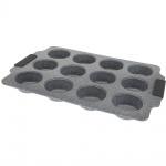 Form für Muffins, 12 Cupcakes - Kohlenstoffstahl