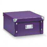 Zeller Aufbewahrungsbox, Pappe / 31 x 26 x 14, lila