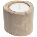 Kerzenständer aus Holz mit Kerze GRATIS 11x11x11 cm
