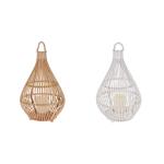 Laterne Rattan Windlicht Weide Kerzenhalter Lampion LED Teelicht GRATIS