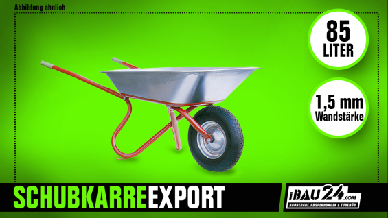 Schubkarre ibau-Export