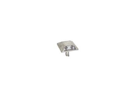 Alumarkierungsnagel viereckig mit Schaft zum Einsetzen mit zwei Reflexlinsen