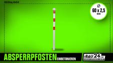 Absperrpfosten Ø 60 mm zum Einbetonieren