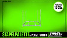 Vierkantrohr / Stapelpalette für Polizeigitter