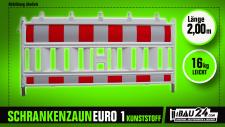 Schrankenzaun / Absturzsicherung Euro 1 Kunststoff nach TL