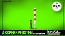 Absperrpfosten Ø 89 x 2, 9 mm herausnehmbar
