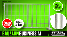 Bauzaun / Mobilzaun Business Haken und Öse feuerverzinkt