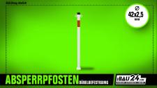 Absperrpfosten Ø 42 x 2, 5 mm ortsfest, für Dübelbefestigung