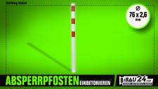 Absperrpfosten Stahlrohr Ø 76 x 2, 6 mm ortsfest